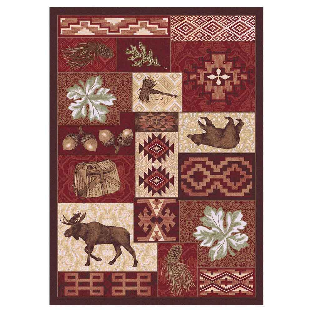 Bear Creek Lodge Rug Design Rustic