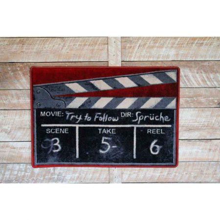 Novelty movie clapper 3x4 rug