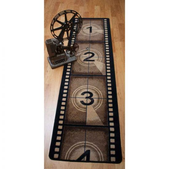 Novelty 2x8 runner with vintage film strip print