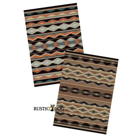 Southwestern Rugs in 2 color variations