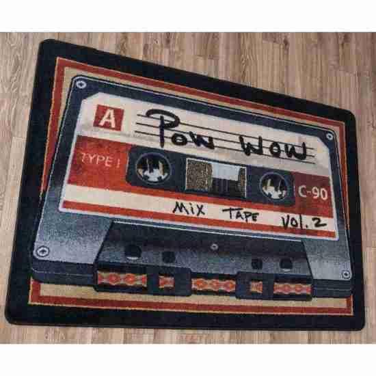 Novelty tape print area rug