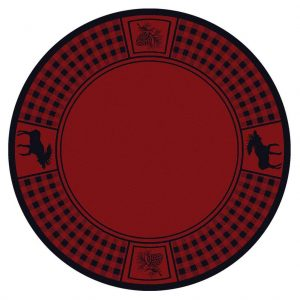 Round Rug with cabin decor favorite prints