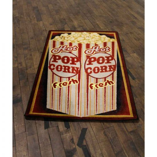 4x5 novelty rug with a popcorn print