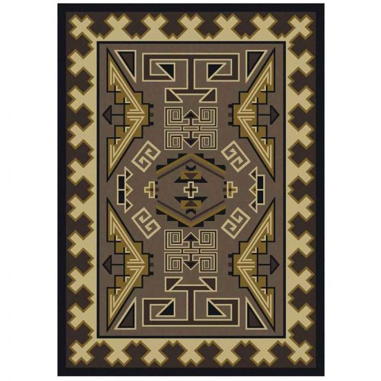 Southwest rug in gray and sand