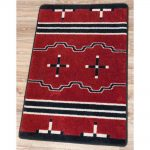 Red And Black Southwest Rug