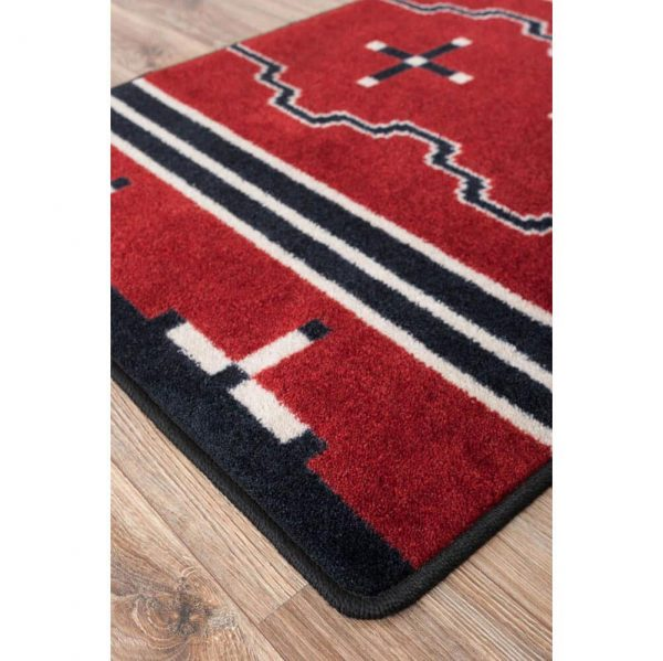 Close up of a bold red Southwest runner