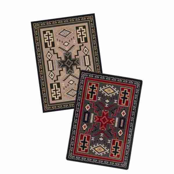 Double Cross rug color assortment