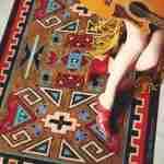 Four Rams Southwest print area rug