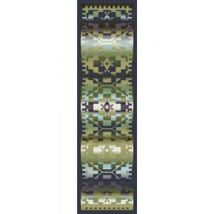 Multi shades of blue and green Southwest inspired runner