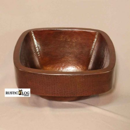 Rustic Bathroom Square Vessel Sink