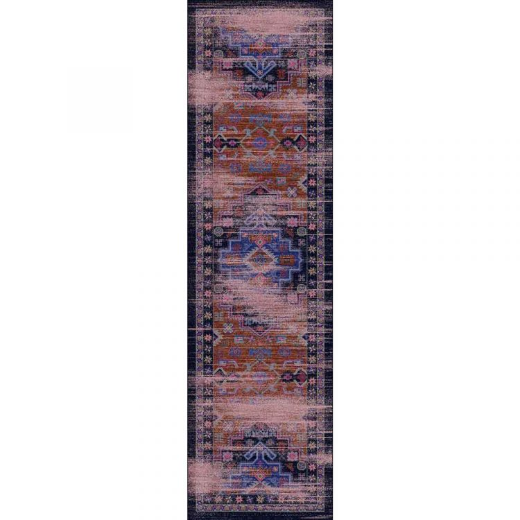 2x8 runner rug with distressed oriental print