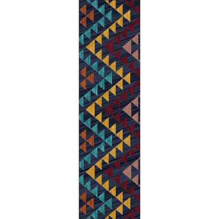 Multi Color Geometric print runner rug