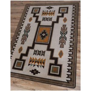 Area Rug With Southwest Design in Light Shades Of Brown