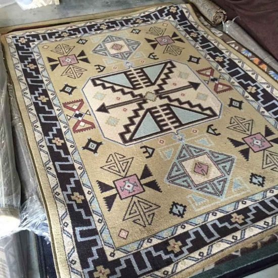 Neutral and pastel Southwestern area rug