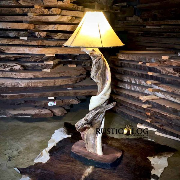 """24"""" rawhide shades are perfect for larger table or for floor lamp"""