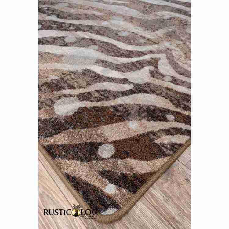 Corner of silver splash and zebra print rug