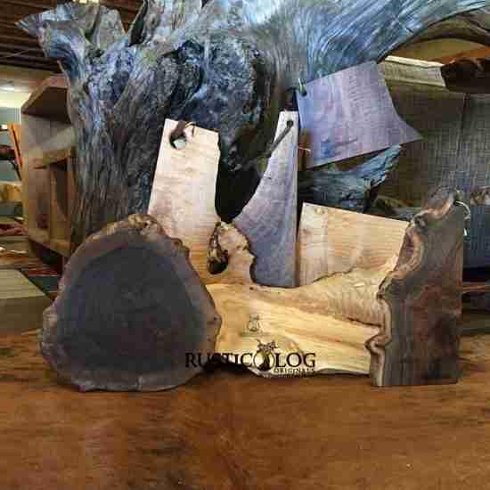 Natural wod live edge cutting boards