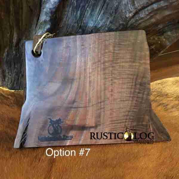 Small rectangular cutting board handmade of walnut