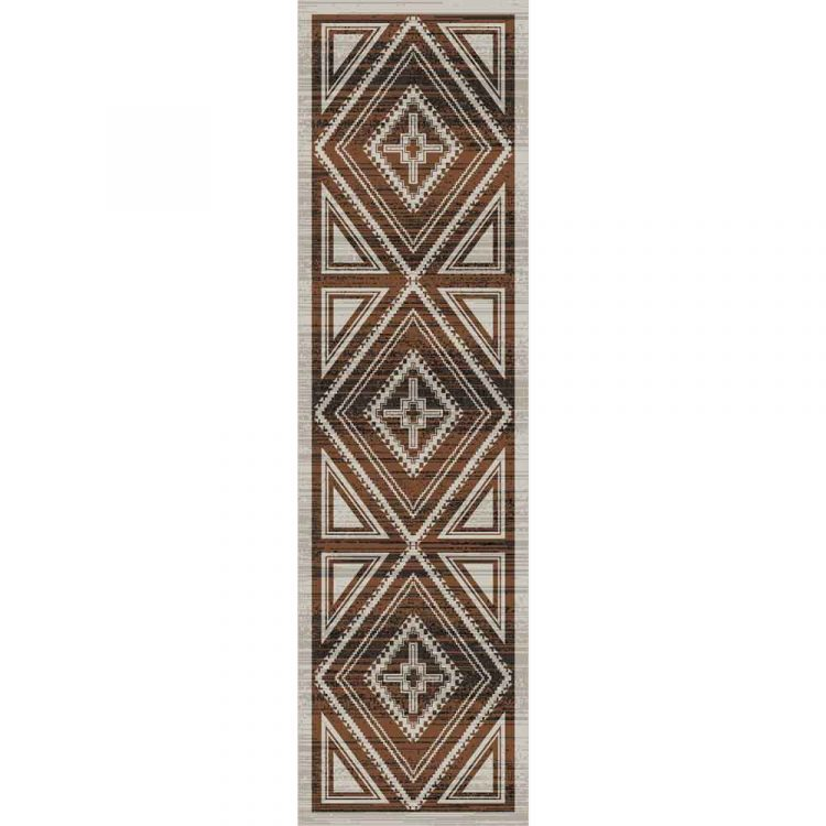 Brown and tan Southwestern runner