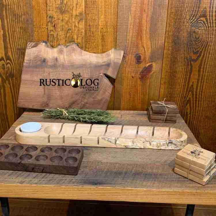 Maple live edge baguette board
